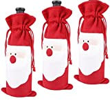 Description:  MATERIAL:Non-Woven Fabric. SIZE: 32*13cm.Fits a standard sized bottle of wine. SUITABLE FOR: Christmas decorations supplies, for holding your Christmas gift, candys or wine. Add a festive look to your holiday party with Santa C...