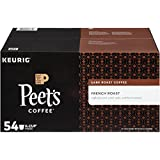 Peet's Coffee, French Roast, Dark Roast, K-Cup Pack (54 ct.), Single Cup Coffee Pods, Bold Dark Roast Blend of Latin American Coffees, with A Smoky, Flavorful Bite; for All Keurig K-Cup Brewers