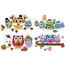 Carson Dellosa Celebrate with Colorful Owls Bulletin Board Set (110224)