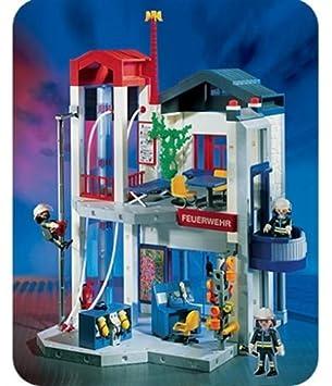 Playmobil 3885 Feuerwehr Station Mit Schlauchturm Amazon De