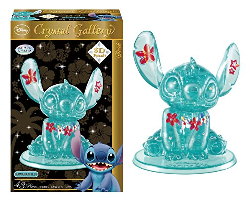 Disney 3d Crystal (Hanayama Disney Crystal Gallery Hawaiian Blue Stitch 3D Puzzle (43 Piece))