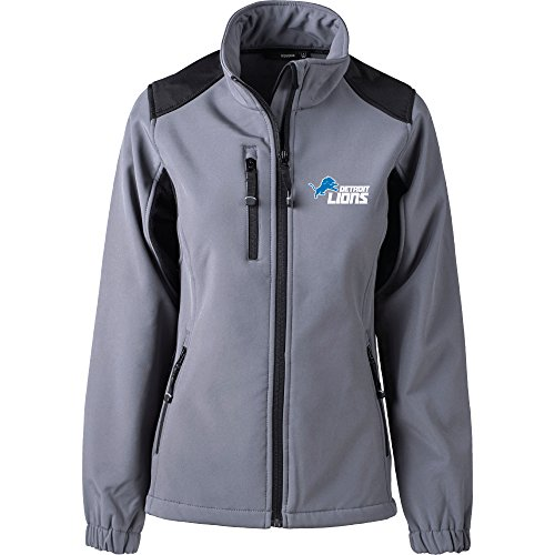 Graphite Womens Jacket - Dunbrooke Apparel NFL Detroit Lions Women's Softshell Jacket, Small, Graphite