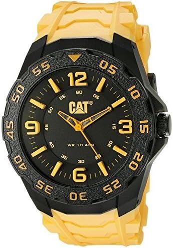 Amazon.com: CAT WATCHES Men's LB11127137 Motion Analog Display Quartz  Yellow Watch: Watches