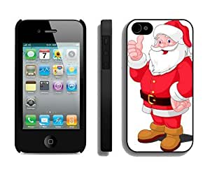 Provide Personalized Customized Santa Claus iPhone 4 4S Case 23 Black