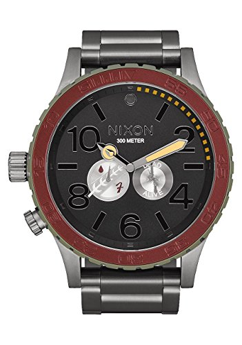 Nixon Unisex The 51-30 - The Star Wars Collection Boba Fett Red/Gray Watch (Nixon 51 30 Tide Watch)