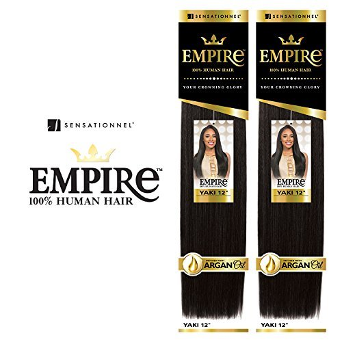 2-Pack Deal ! Sensationnel Human Hair Weave Empire Yaki Weaving (12