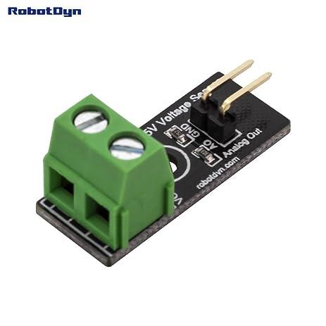 Amazon robotdyn simple dc voltage sensor dc 25v for arduino robotdyn simple dc voltage sensor dc 25v for arduino stm raspberry publicscrutiny Choice Image