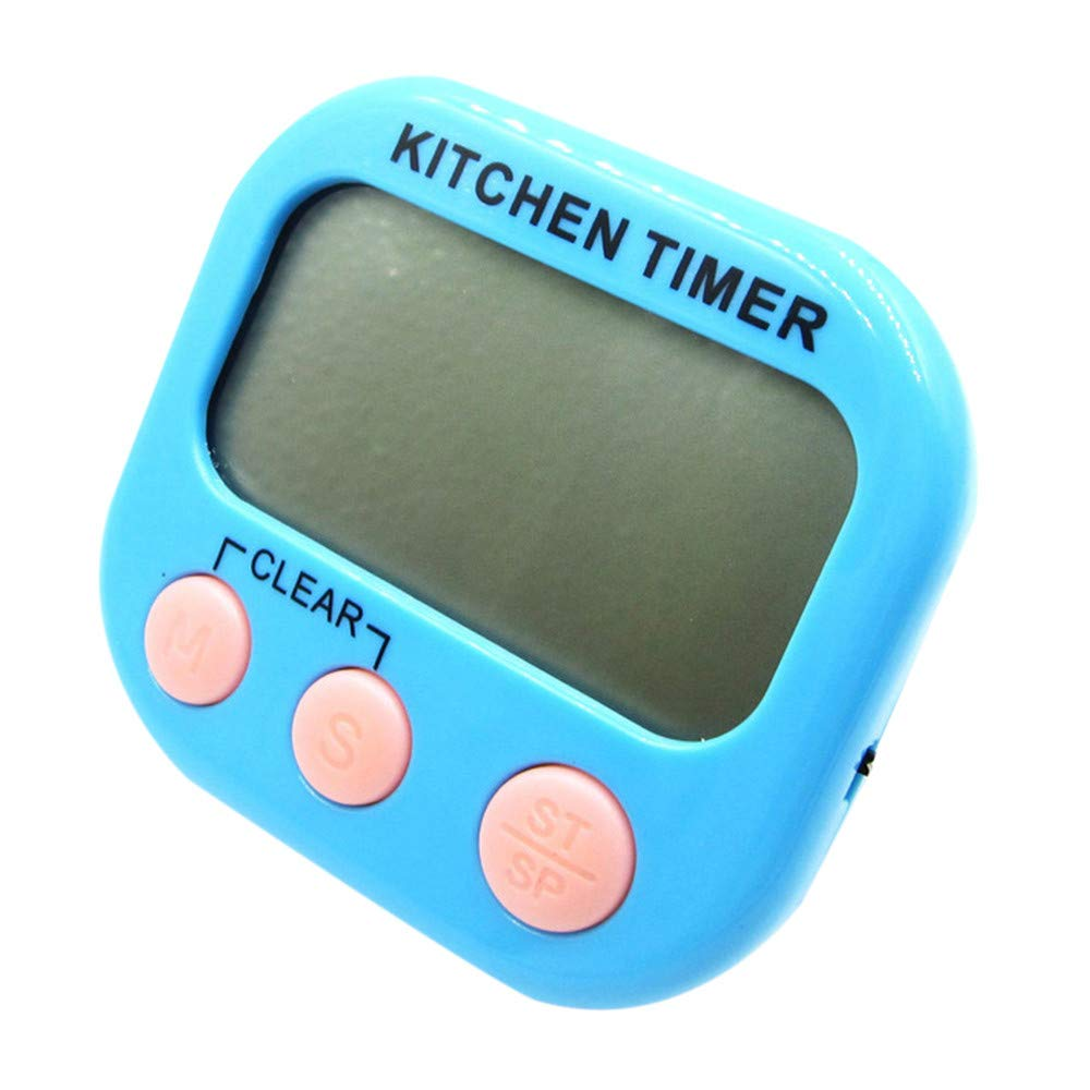 Oldeagle Large LCD Digital Kitchen Cooking Timer Count Down Up Clock Magnetic Loud Alarm Clock (Sky Blue)