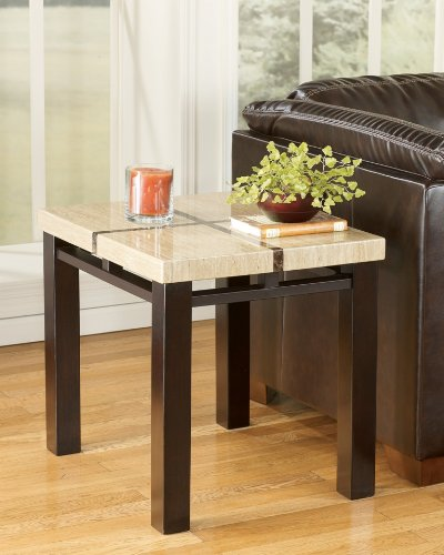 Lowell Contemporary Dark Brown End Table