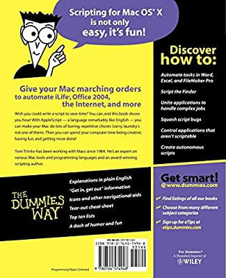AppleScript For Dummies: Tom Trinko: Amazon com: The Book