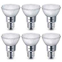Philips 471151 50 Watt Equivalent Classic Glass PAR20 Dimmable LED Flood Light Bulb, Daylight, 6 Pack