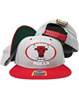 Chicago Bulls Gray / Red Tone Plastic Snapback Adjustable Snap Back Hat/Cap