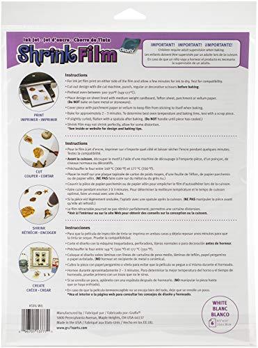 (Grafix Shrink Film 8 1/2 x 11 in. Ink Jet White 6 pc.)