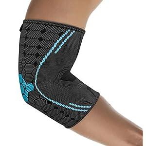 Bonmedico® Farko (NEW!), Elbow Brace, Elbow Compression Brace to Promote Circulation, Elbow Brace for Tennis Elbow, Elbow Brace for Tendinitis, for Men and Women (M) (Left/Right)
