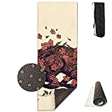 Running Fox Yoga Mat - Advanced Yoga Mat - Non-Slip Lining - Easy to Clean - Latex-Free - Lightweight Durable - Long 180 Width 61cm