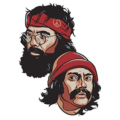 Cheech and Chong (Size W9.7 x H7.1 Centimeter) Car Motorcycle Bicycle Skateboard Laptop Luggage Vinyl Sticker Graffiti Decal Bumper Sticker