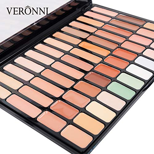 (Hot Professional Concealer Cover Plate Foundation Makeup Silky Concealer red Blood and Dark Circles Under The Eyes Lasting Concealer Pores Brighten Concealer 50 Colors (Multicolored))