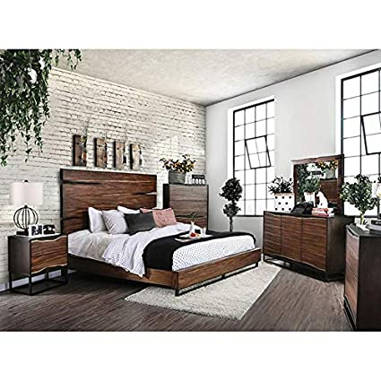 Amazon.com: Esofastore Contemporary Dark Walnut Color Finish ...