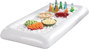 EcoHome USA Inflatable Buffet and Salad Bar - Portable Blow Up Food and Beverage Cooler and Server with Drain Plug