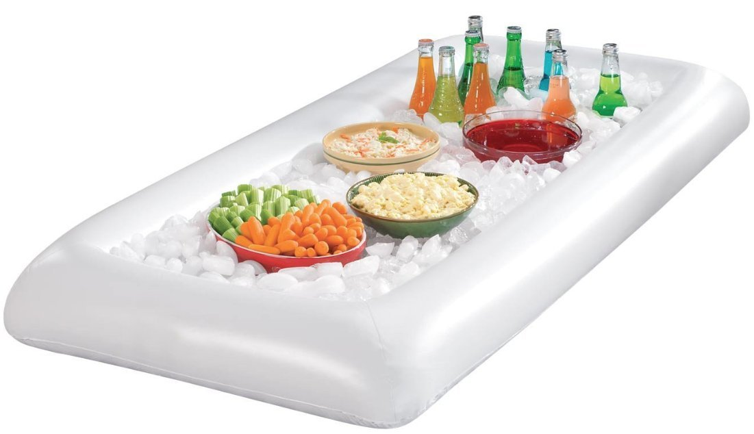 Inflatable Buffet and Salad Bar - Portable Blow Up Food and Beverage Cooler and Server with Drain Plug - By EcoHome USA