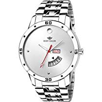 Eddy Hager Quartz Movement Analogue White Dial Men's Watch -
