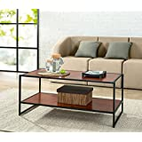 Zinus Modern Studio Collection Deluxe Rectangular Coffee Table, Brown
