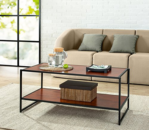 Modern Collection (Zinus Modern Studio Collection Deluxe Rectangular Coffee Table, Brown)