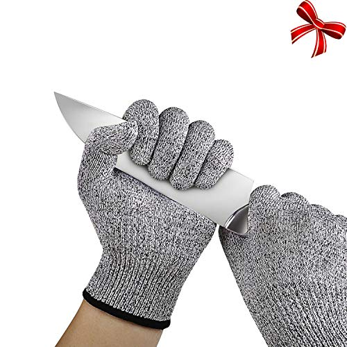 Cut Resistant Gloves,Cuts Gloves, Food Grade Level 5 Protection, Breathable Work Gloves for Mandolin Slicing, Meat Cutting, Fish Fillet Processing and Yard Work for Men & Women(Large)