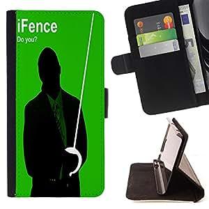 - Fencing/ Personalizada del estilo del dise???¡Ào de la PU Caso de encargo del cuero del tir????n del soporte d - Cao - For HTC One M7