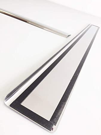 2013-2017 Cartuningua Stainless Steel Outside Fit Door Sill Scuff Plate Guard 2 pcs Sills Protector Trim for Honda Accord Coupe IX USA