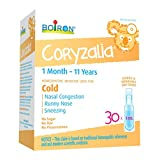 Boiron Coryzalia Children, 30 Unit-Doses (1 ml Each),Homeopathic Medicine Used for Colds and Cold Symptoms Such As Nasal Congestion, Runny Nose, Rhinitis (Acute, Recurrent, Infectious or Allergic)
