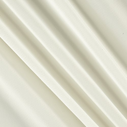 Ivory Textile - Ben Textiles Chiffon Solid Ivory Fabric by The Yard,