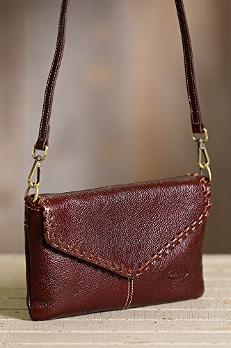 Connie Pebbled Leather Crossbody Wristlet Clutch by Overland Sheepskin Co (Image #1)