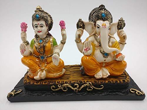 Lakshmi Ganesh Statue - Laxmi Ganesha Idol | Murti | Figurines | Diwali Gift Ideas]()