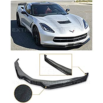 ZR1 Style PAINTED CARBON FLASH Front Lip Splitter For 05-13 Corvette C6 Z06