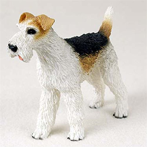 Ky & Co YesKela Wirehair Fox Terrier Hand Painted Collectible Dog (Wirehair Fox)
