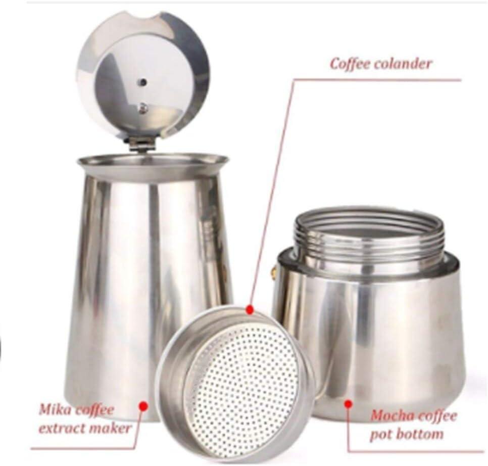 Cafetera de acero inoxidable AOSNTEK 450 ml color marr/ón