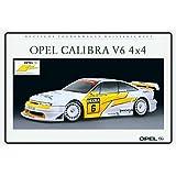 Schatzmix Opel Calibra V6 4x4 Tourenwagen - Señal metálica para Coche con Texto Deko Schild,