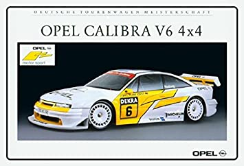 Verwonderlijk Opel Calibra V6 4x4 Tourenwagen auto schild aus blech, metal sign HT-49