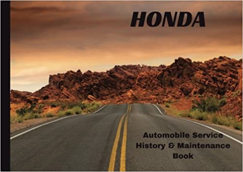 HONDA Automobile History Maintenance Book Vehicle Log Auto Repair Record Journal Logbook Safety Guide