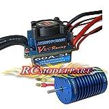 60A Programmable Sensorless Brushless ESC + 12T 3330KV Motor for 1/10 1/12 RC Car