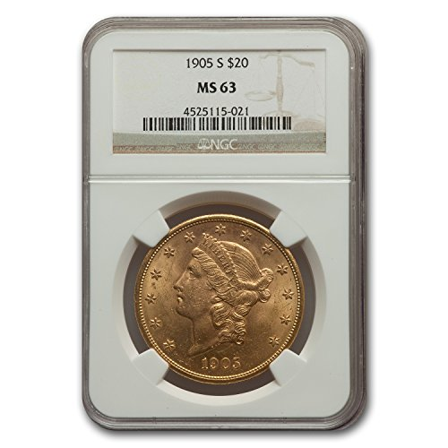 1905 S $20 Liberty Gold Double Eagle MS-63 NGC G$20 MS-63 NGC
