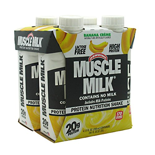 CytoSport Muscle Milk RTD Banana Creme 3 - 4 packs [12 - 11 fl oz (330 ml) shakes]