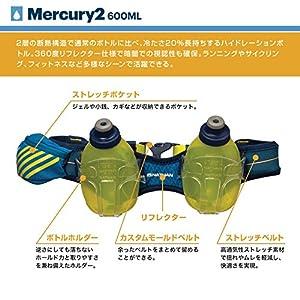 Nathan Mercury 2 Bottle Hydration Belt, Nathan Blue, One Size