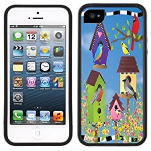 Birdhouses Bird Houses Handmade iPhone 5 Black Bumper Plastic Case