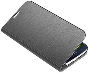 Housse Cuir Galaxy S4, SPIGEN SGP Slim Wallet Metallic Black