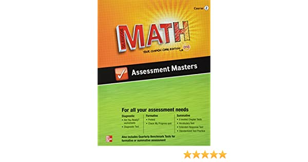 Amazon.com: Glencoe Math Assessment Masters Course 2 Your Common ...