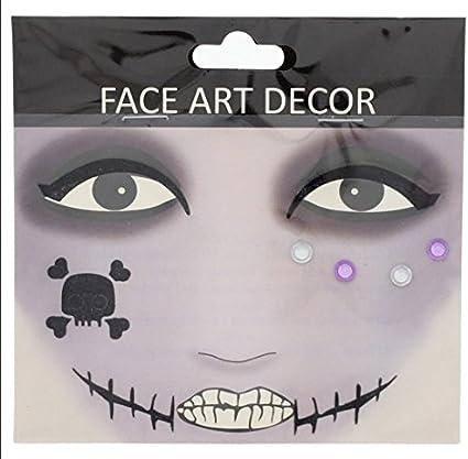 Halloween Face Art Decor Kit de disfraces disfraz accesorios ...