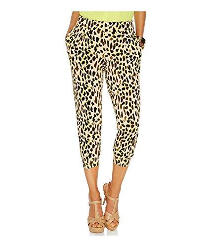 Thalia Sodi Womens Matte Jersey Printed Cropped Pants Multi XL ()