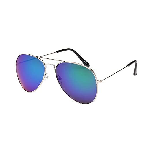 cbfb96255ec9 Image Unavailable. Image not available for. Color  JJLIKER Unisex Classic Aviator  Sunglasses Mirrored Polarized Protection Lightweight Double Bridge ...